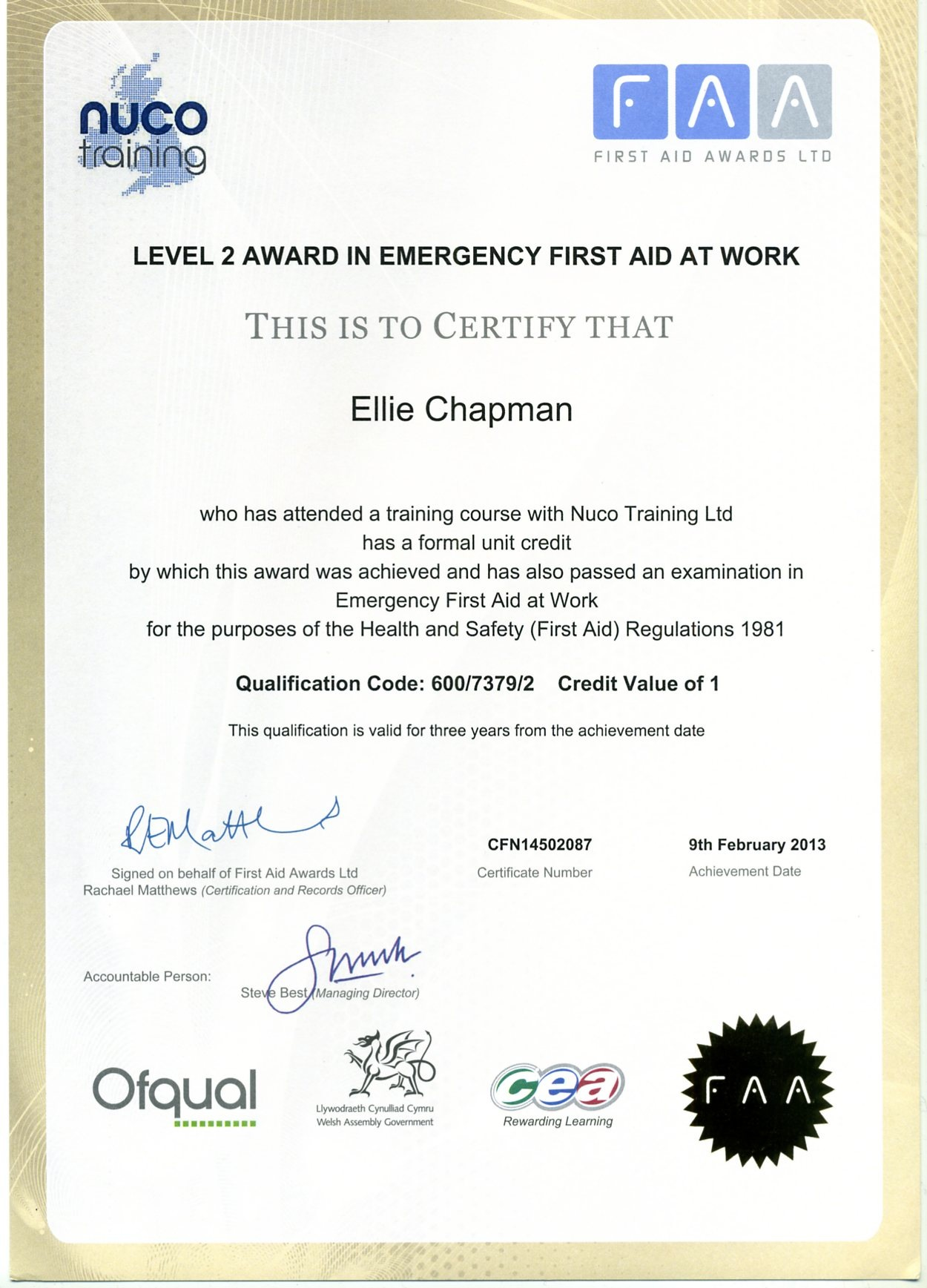 Instructor Certificates – First Aid Certificate Template